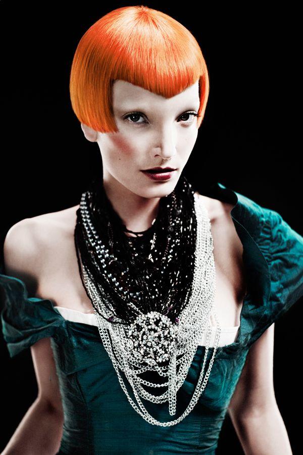orange hair   Photo makeup Blain Hair expo