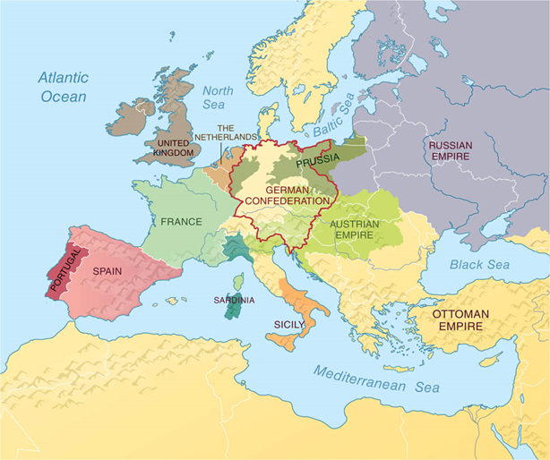 Europe after the Treaty of Vienna, 1815