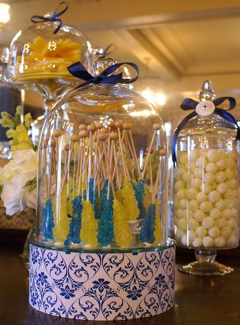 Excellent Midnight Blue And Yellow Candy Buffet By The Couture Candy Download Free Architecture Designs Embacsunscenecom