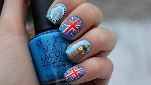 A Shout Out To The 2012 London Olympics (Via Nail Art, Of Course!)