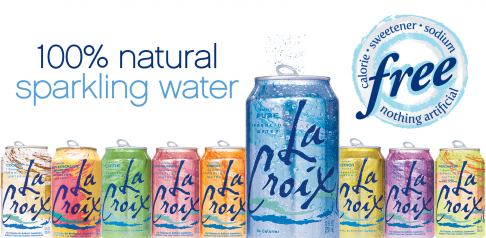 La Croix 100 Natural Sparkling Water Infused water