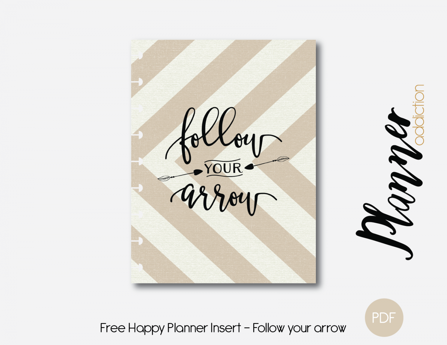 Free Printable Insert & cover for Happy Planner - Follow