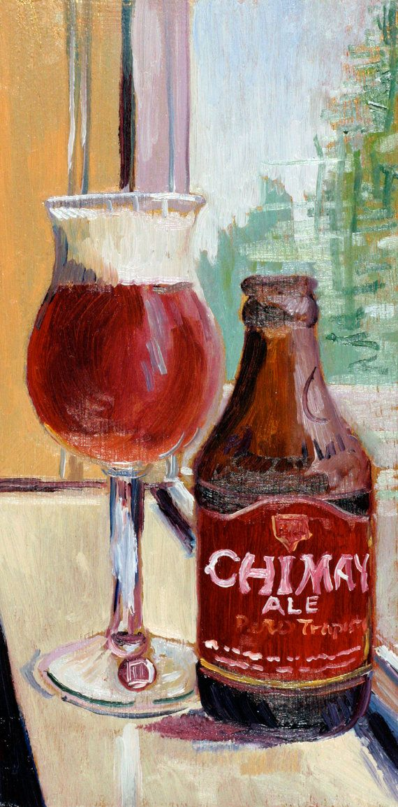 Beer Art Print of CHIMAY Red Cap Trappist by RealArtIsBetter, $35.00