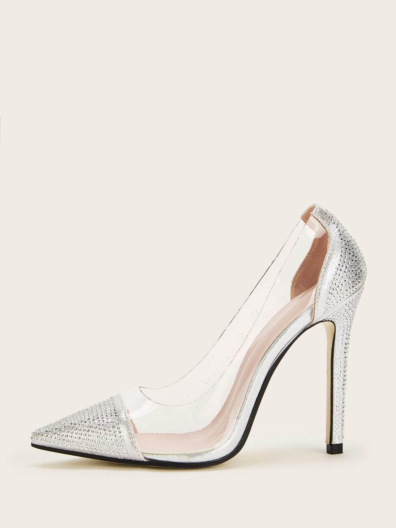 Transparent Point Toe Stiletto Heels   Stiletto heels, Heels