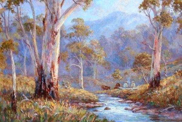 Australian Bush Scenes Paintings Google Search Australian Painting Fine Art Painting Lovers Art