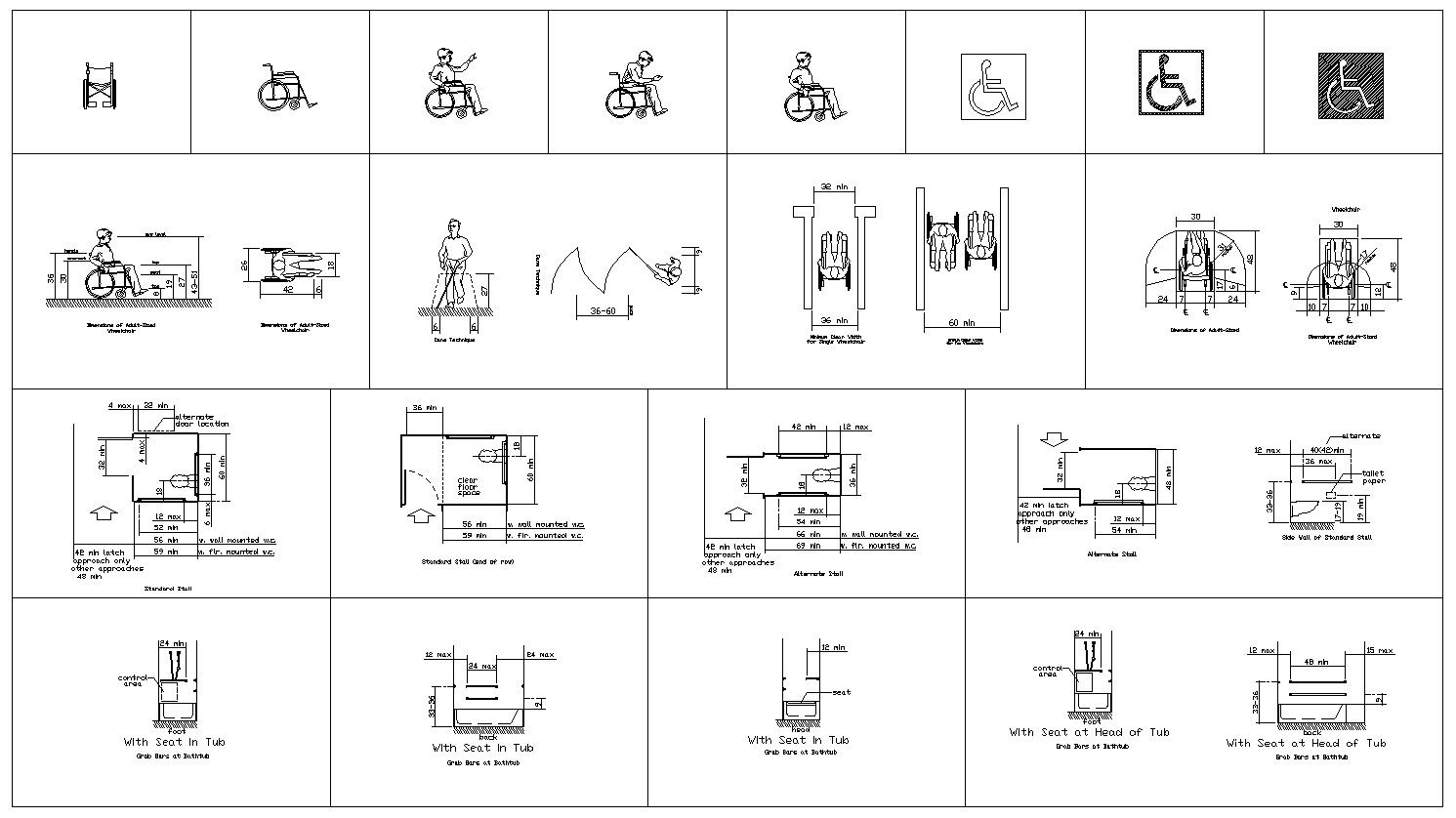 Accessibility Facilities Drawings V1 – CAD Design | Free CAD Blocks,Drawings,Details  Cad