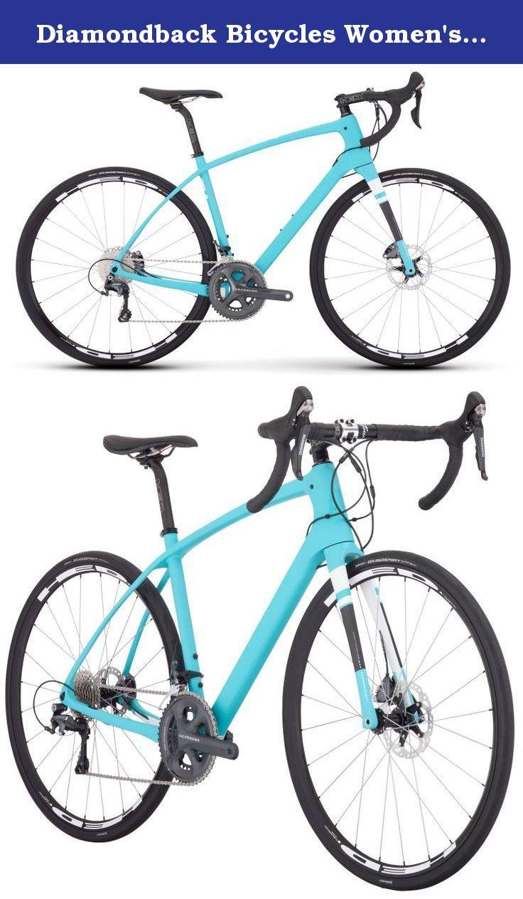 Diamondback Bicycles Women\'s Airen 5 Carbon Road Bike, Tiffany Matte ...