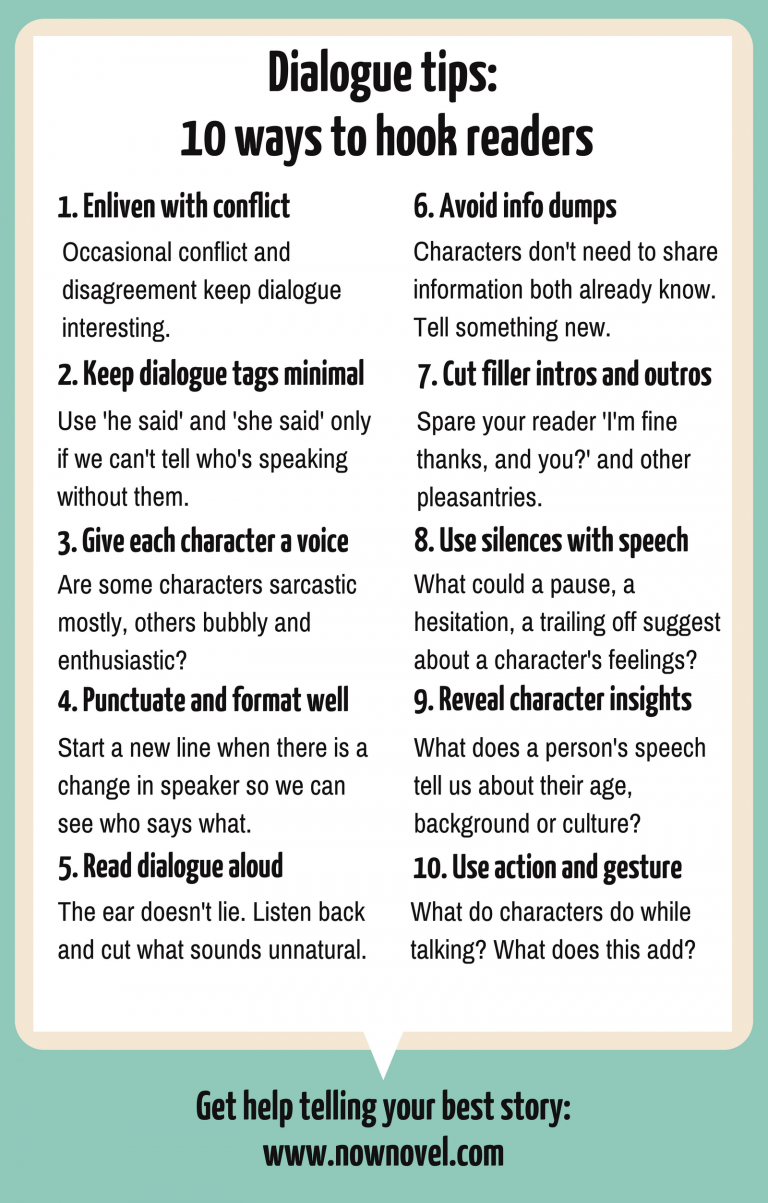 10 Dialogue Tips to Hook Readers | Now Novel