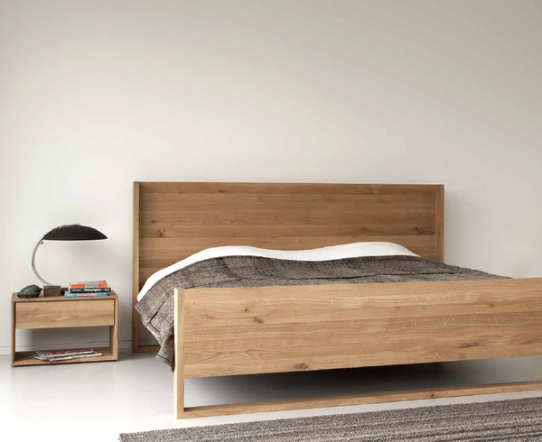 ethnicraft nordic queen size bed | timber furniture, queen size