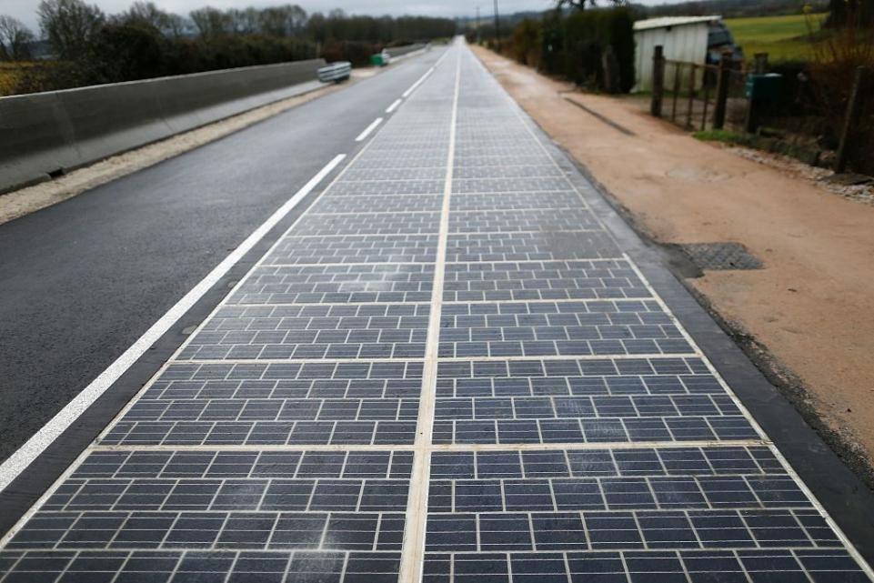 A Solar Road In France Can Power A Village S Street Lights Solar Solar Panels Solar Energy