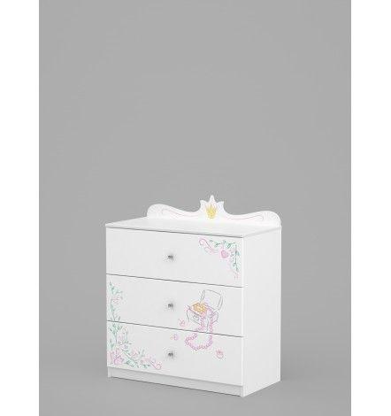 Commode Magic Princess 90cm Rangement Enfant Chambre Design Mobilier Design