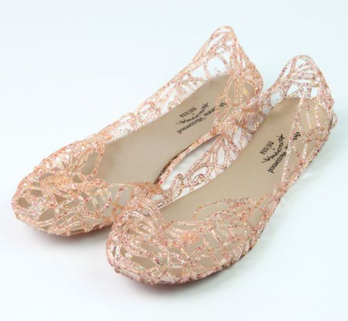 Fashion Women Ventilate Crystal Shoes Jelly Hollow Sandals Summer Flat Shoes New