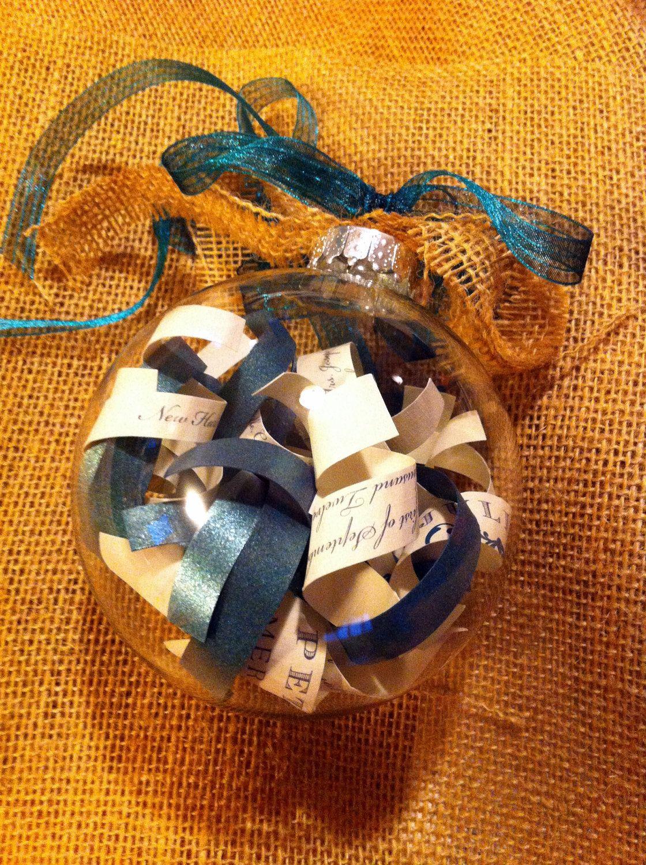 Personalized Wedding Invitation Ornament Glass by invitealicious, $18.00