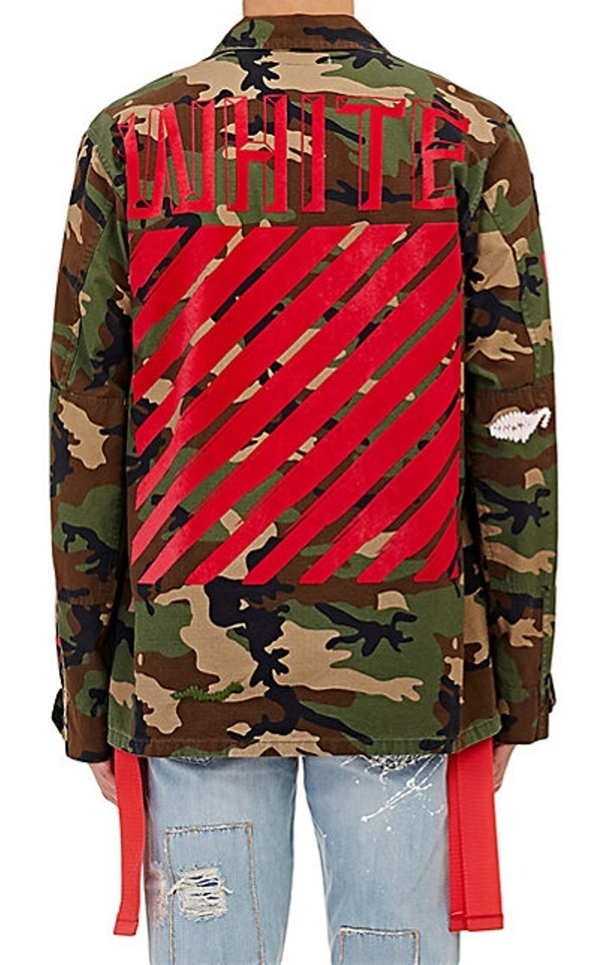 fd4d5b886ff Off White Embroidered Camo Field Jacket Size L  1000 - Grailed ...