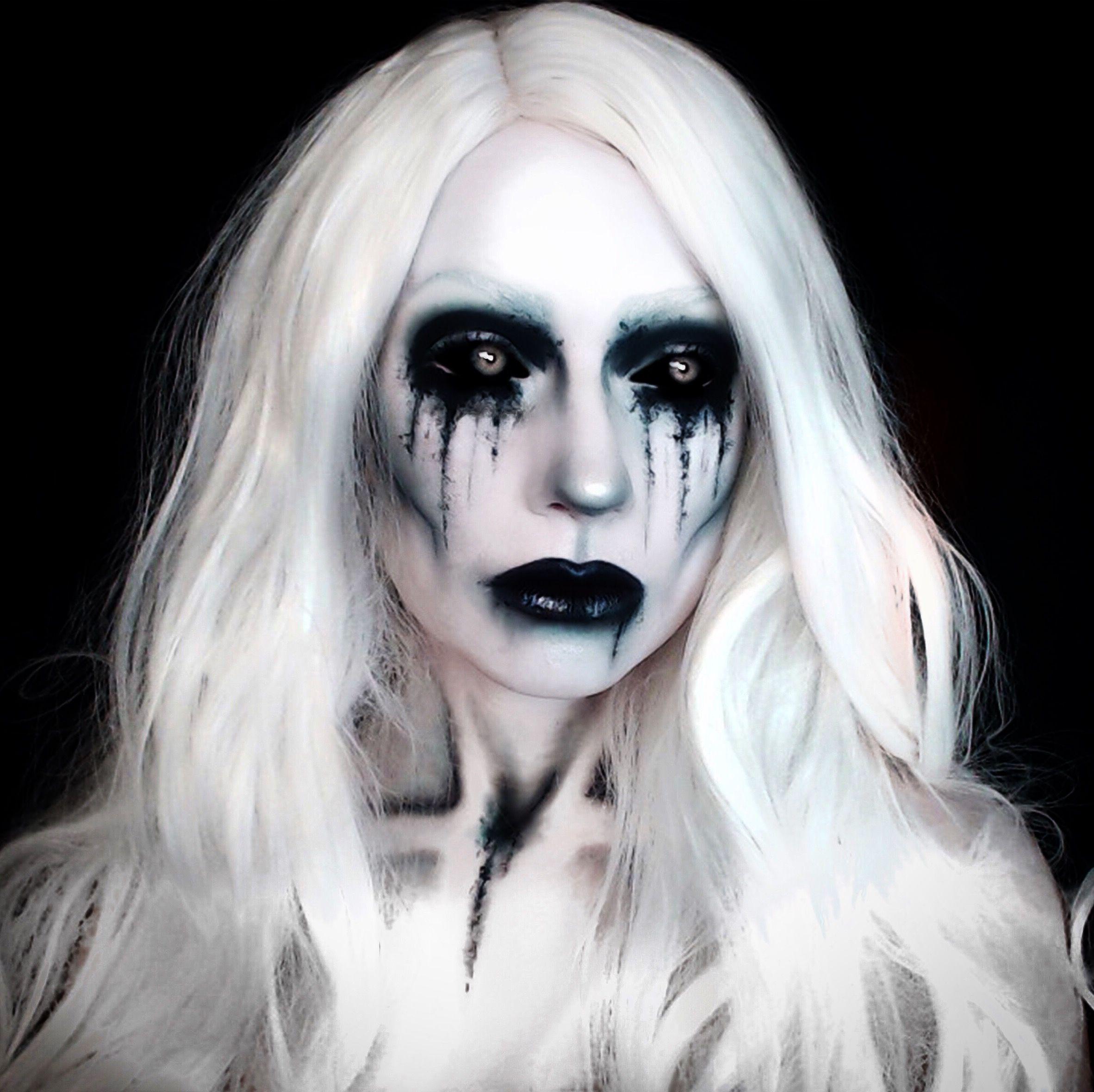 La Llorona Ghost Horror Creepy Makeup Black And White