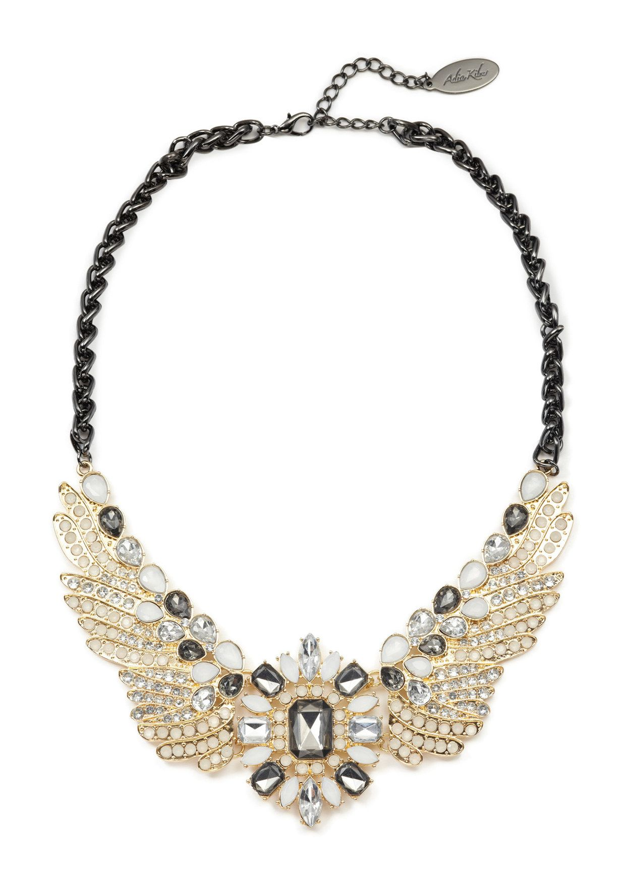 ideeli | ADIA KIBUR Crystal Wings Pendant Chain Necklace