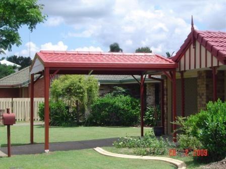 Single Carport Metal Tile Roof Outdoor Structures Metal Tile Outdoor Decor