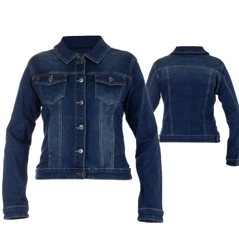 Denim Jeansjacke mit Stretch und Knopfleiste Sommer Trends