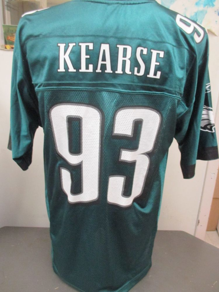 a8a5cf55 NFL Reebok Philadelphia Eagles Green #93 Jevon Kearse Jersey Medium ...
