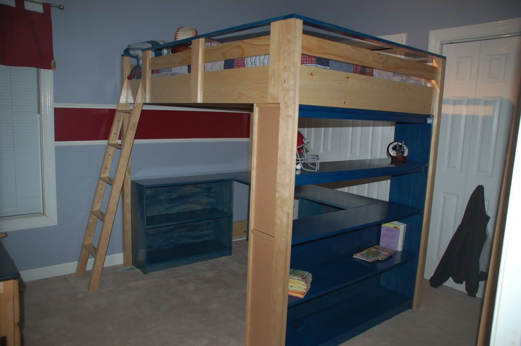 Ana White Build A How To Build A Loft Bed Free And Easy Diy