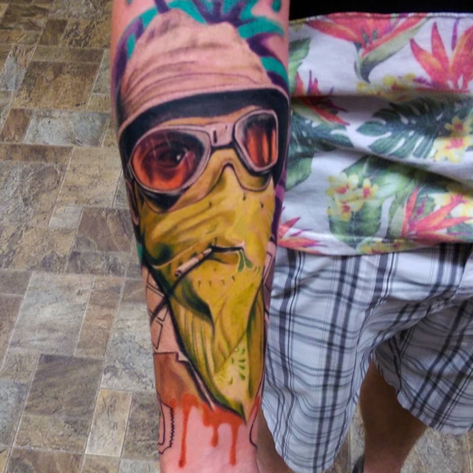 Las vegas tattoo pictures images photos photobucket - Hunter S Thompson Portrait Tattoo From Fear And Loathing In Las Vegas Mint 400