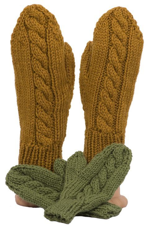Easy Cable Mittens Knitting Pattern Knitting Pinterest Easy
