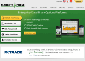 The MarketsPulse Enterprise solution is an advanced system integrated with your specific tools, CRM and lead management systems for a complete binary options operation. Enterprise clients have the ability to distribute white labels.