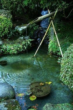 "asiaimages: "" Hokokuji Garden Fountain, Kamakura Images by John Lander/Asian Images """