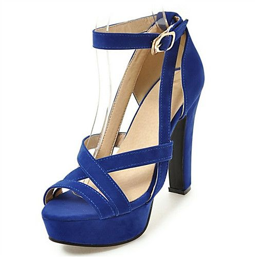 Shoes For Women Fleece Wedge Heel Wedges Sandals Casual Black Blue Red Beige