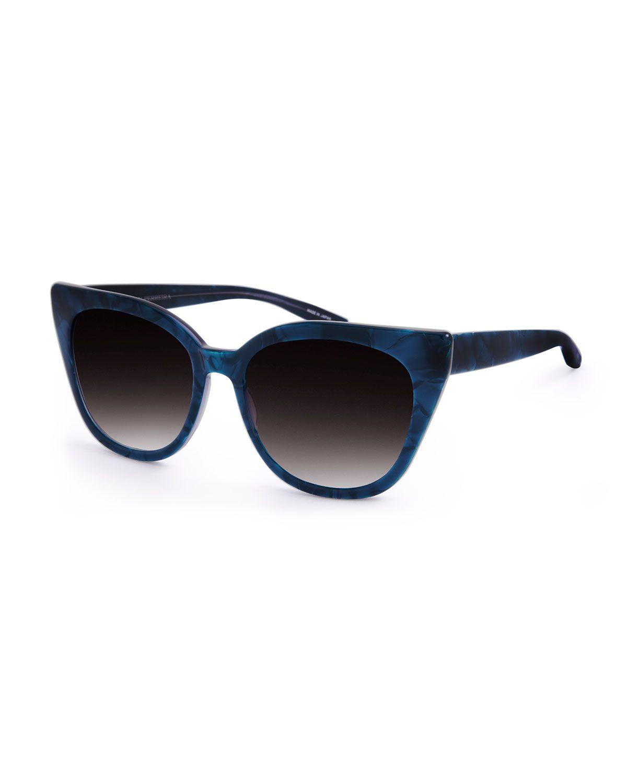 Shirelle Gradient Cat-Eye Sunglasses, Blue - Barton Perreira ...