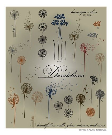 Vinyl Decal: Layered Wall Art- Dandilions