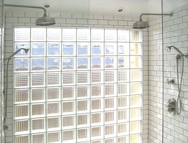 Moderne Räume mit Glasbaustein badezimmer dusche Hinterhaus - badezimmervorlagen kleine wolke