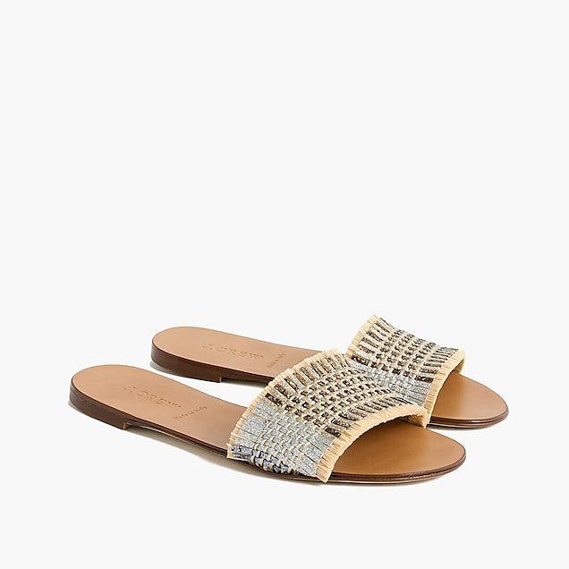 Farah Navy Embossed Sliders Sandals Shoes Men FYMUDJ