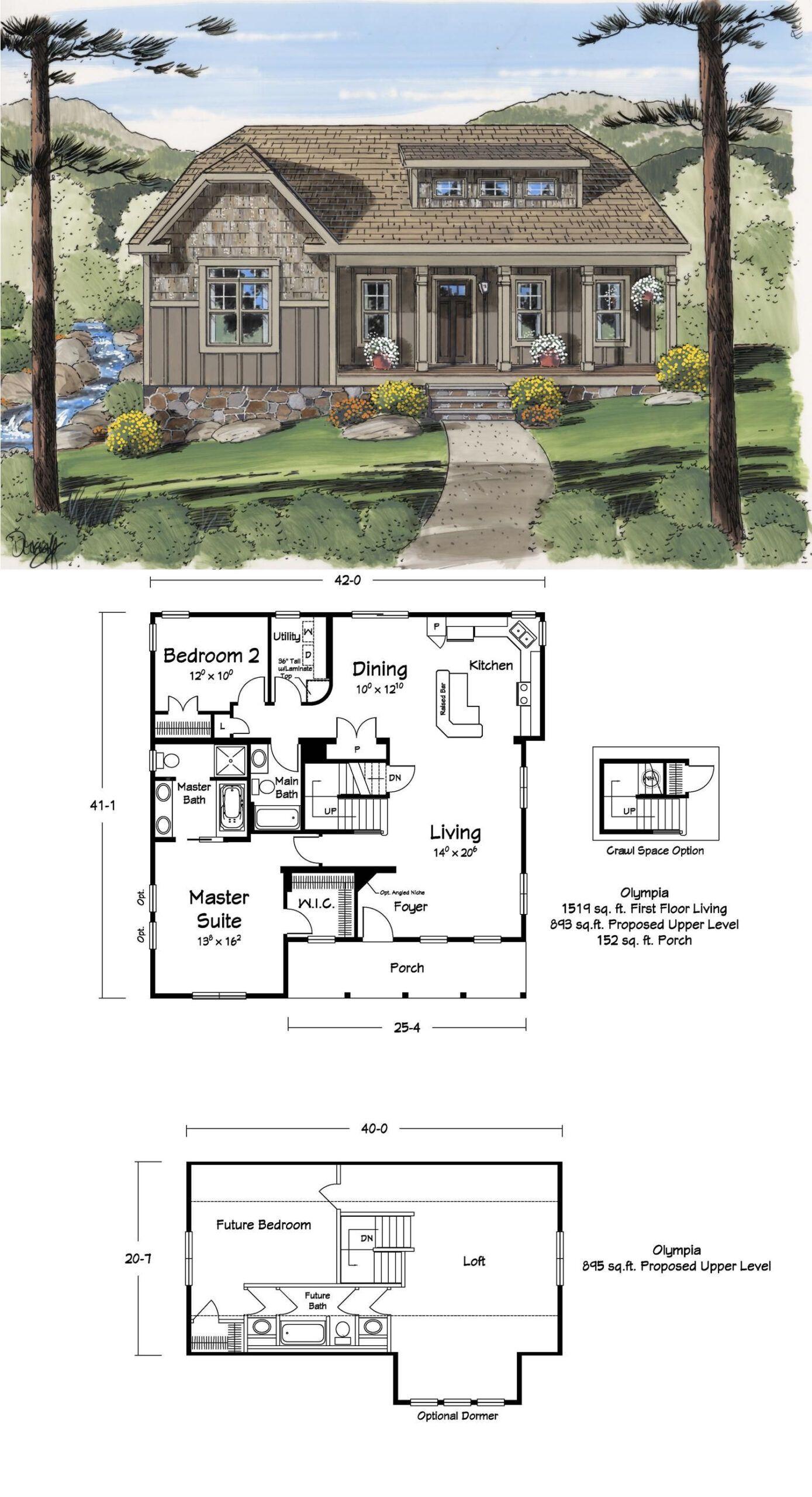 House Plans With Loft In 2020 Mountain House Plans Loft Floor Plans Cabin Floor Plans