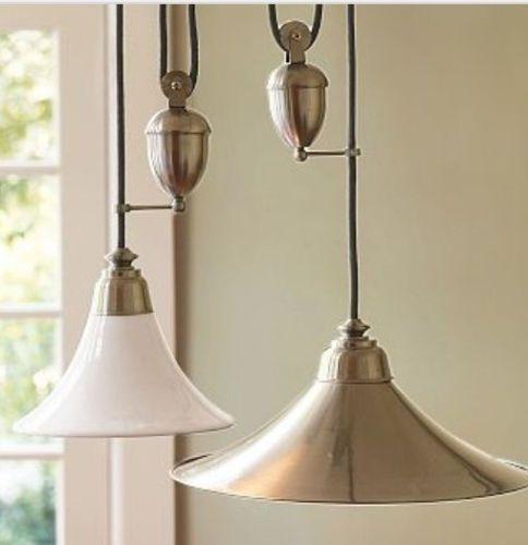 Pottery Barn Ceiling Light Fixtures: Ceramic Pottery Barn Porter Pendant Small Adjustable