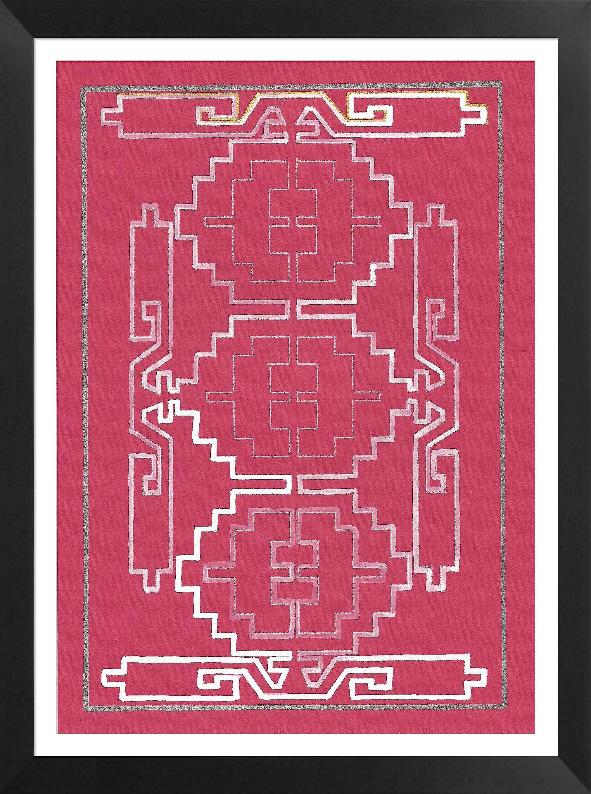 A Composition Of Several Kilim Motifs Kilim Weaving 20 Motifs