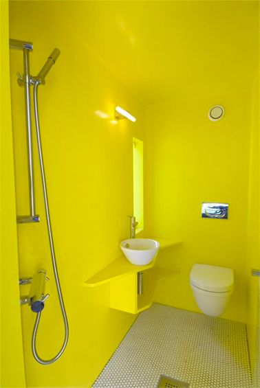 peinture wc id es couleur pour des wc top d co cuvette suspendue jaune fluo et couleurs jaunes. Black Bedroom Furniture Sets. Home Design Ideas