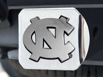 University of North Carolina Tarheels Black with Chrome /& Color NC Emblem NCAA College Sports Trailer Hitch Cover Fits 2 Inch Auto Car Truck Receiver