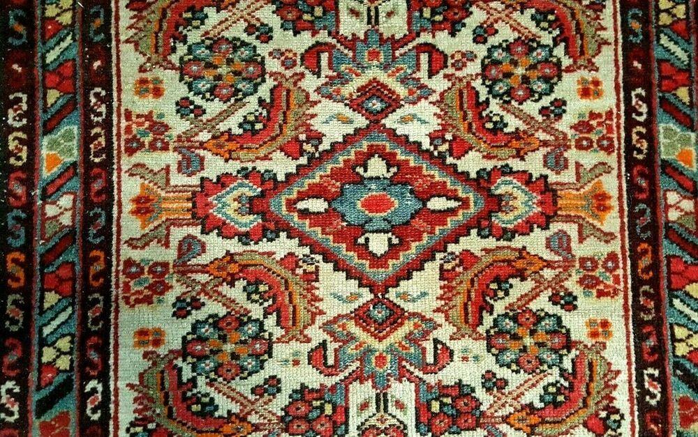 Oriental Rug Hand Knotted Wool Prayer Rug Mat 44 X 32 Old Hamadan