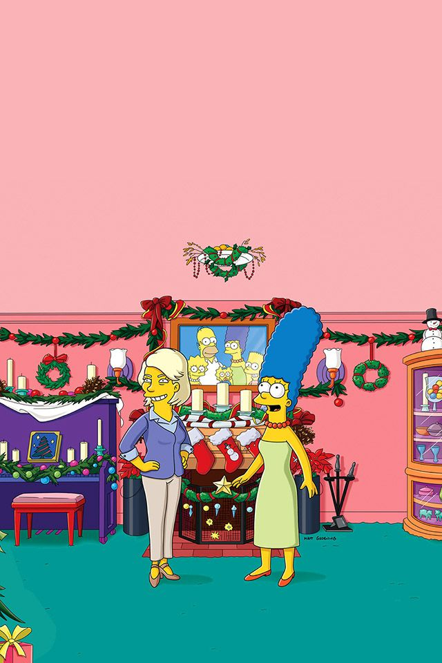 The Simpsons Christmas Episodes.Pin On The Simpsons Wallpaper