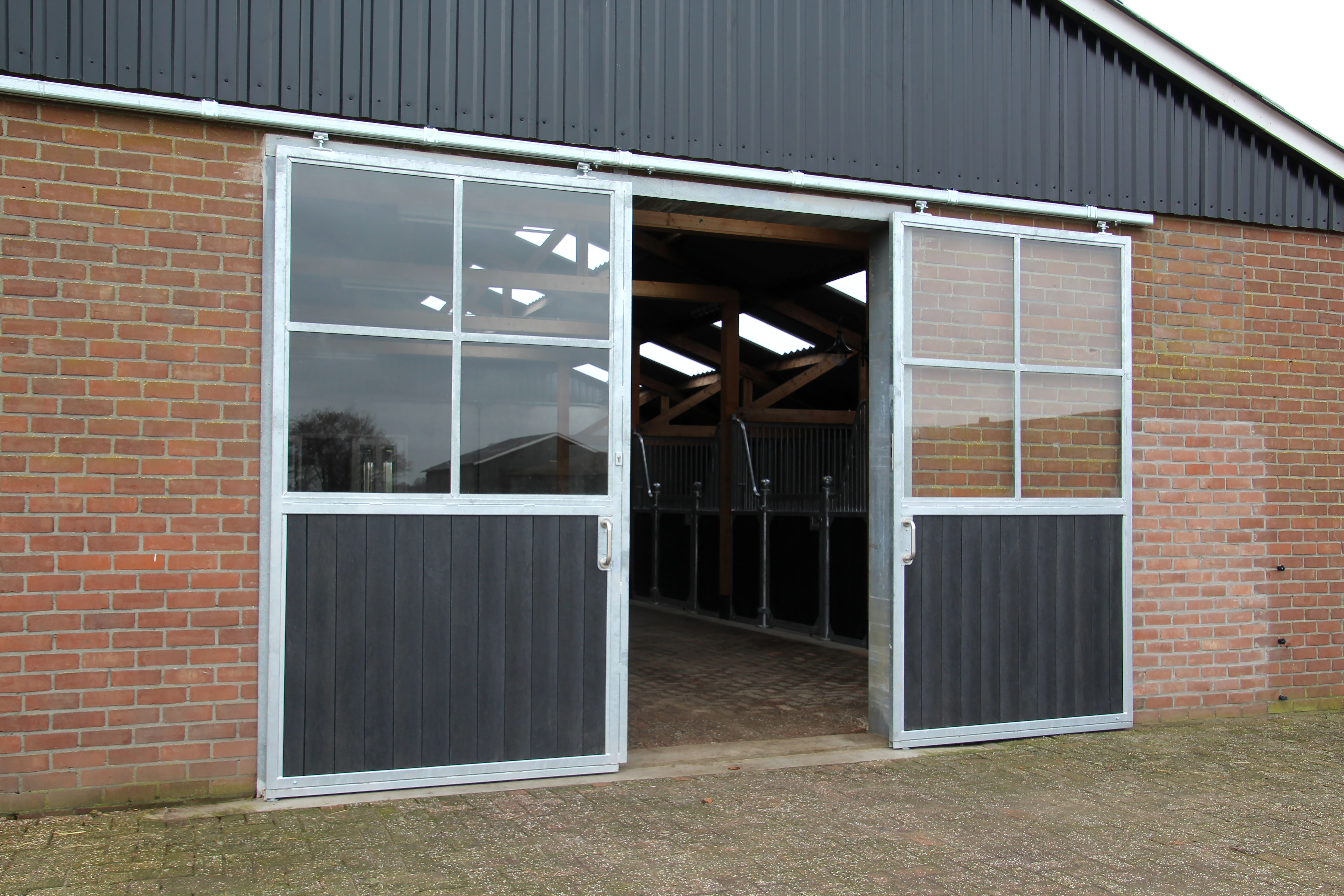 Large barn doors |  sliding door with glass for horse stables…