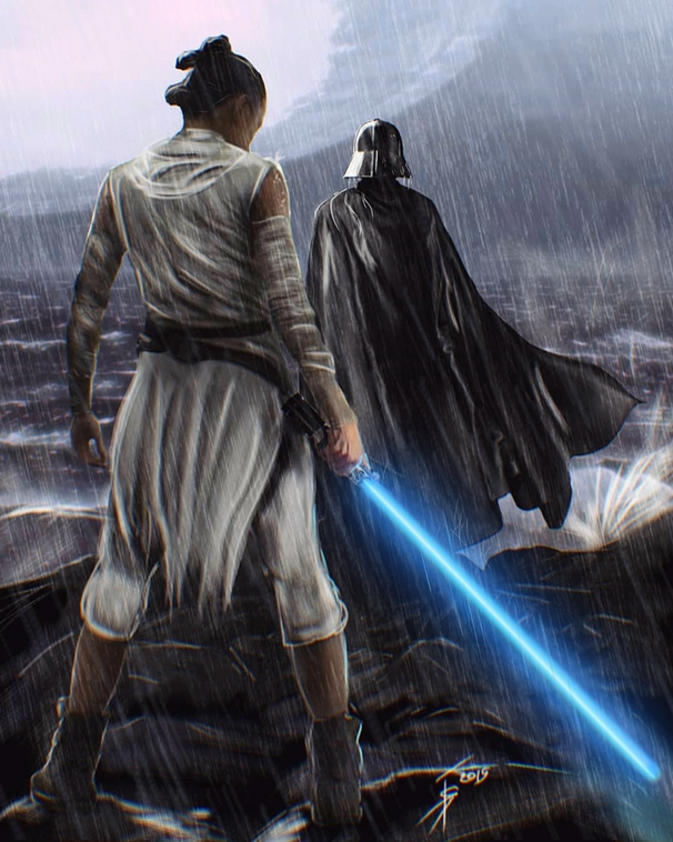 Star Wars The Rise Of Skywalker Art By Isotonic This Piece Is Called Ghosts Of The Past And The Art Is By In 2020 Star Wars Bilder Star Wars