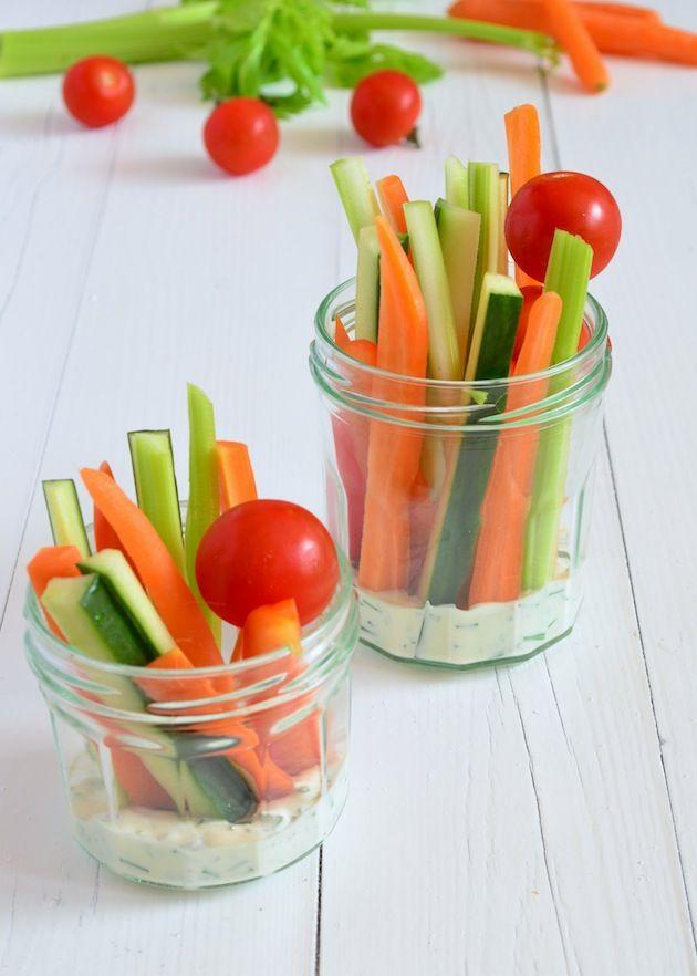 Gezonde hapjes - Groente dip - Uit Pauline's Keuken