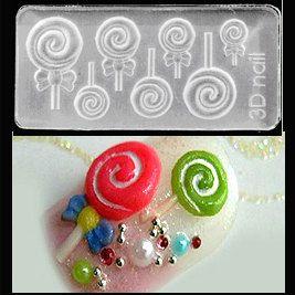 Lollipop 3-D Mold by beautijunki on Etsy https://www.etsy.com/listing/220227645/lollipop-3-d-mold