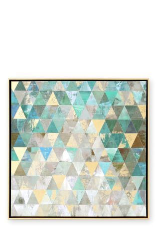 Buy Framed Geo Foil Abstract from the Next UK online shop | House ...