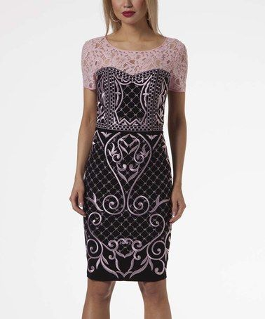 Look at this #zulilyfind! Petal Lace & Embroidered Bodycon Dress #zulilyfinds
