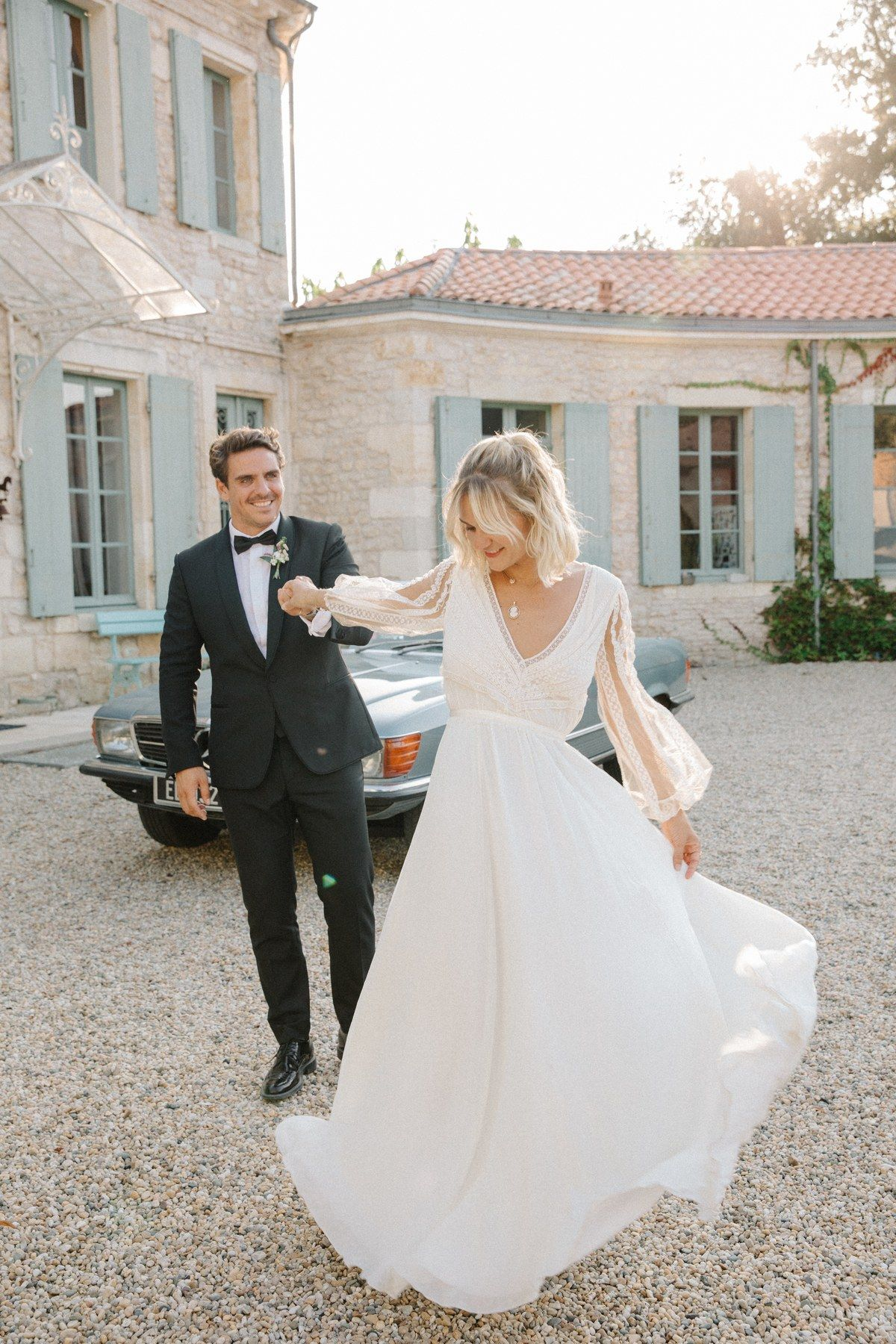 An Influencer S Relaxed French Wedding Near Bordeaux French Wedding Dress Relaxed Wedding Dress French Wedding