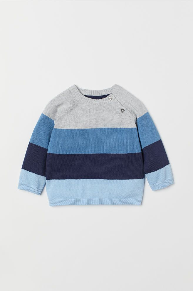 042b878c0c8f H M Fine-knit Sweater - Blue