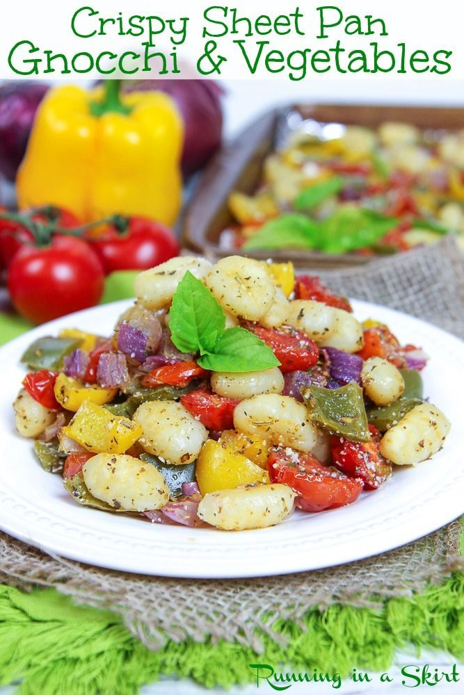 Easy  Healthy Vegetarian Dinner  Sheet Pan Gnocchi and Vegetables  no cleanup Sheet Pan Gnocchi and Vegetables recipe  no cleanup healthy  EASY vegetarian dinner idea Ove...