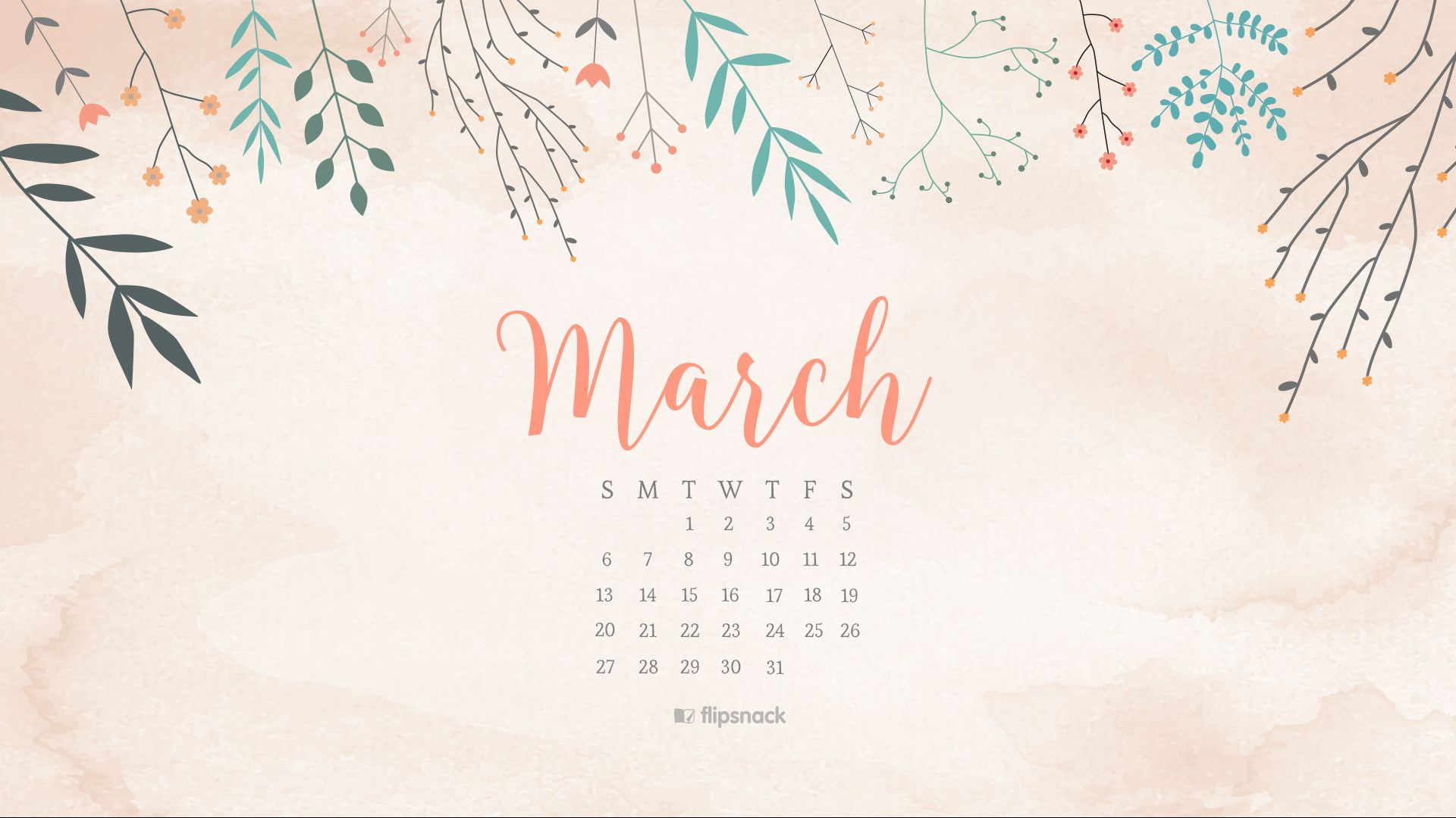 Calendar Wallpaper Originals : March free calendar wallpaper desktop background